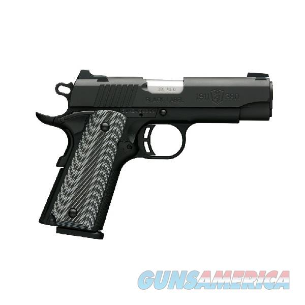 BROWNING 1911-380 BLACK LABEL PRO COMPACT 051910492  Guns > Pistols > Browning Pistols > Other Autos