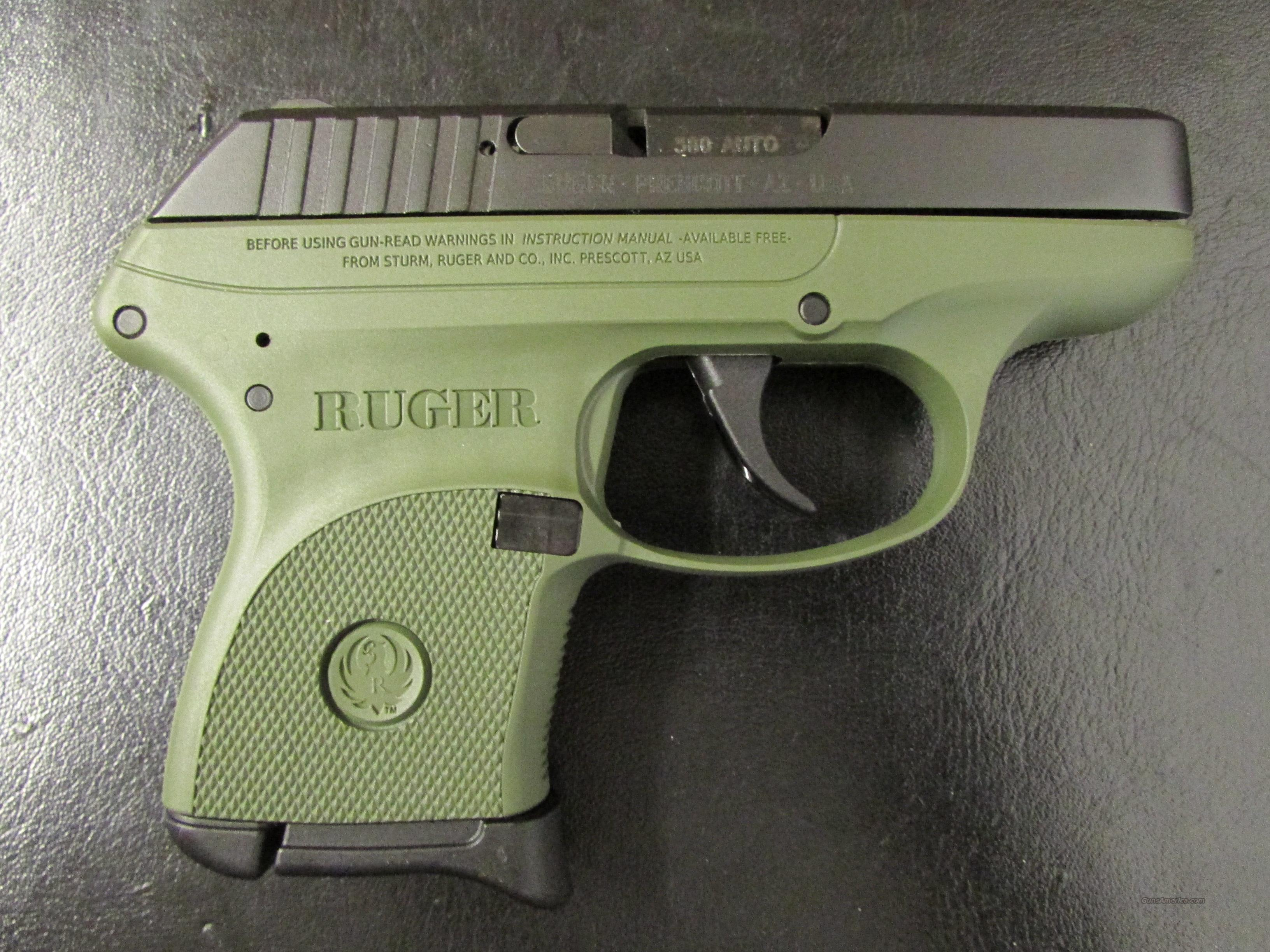 Dealer Exclusive Ruger LCP OD Green Frame .380 ACP  Guns > Pistols > Ruger Semi-Auto Pistols > LCP