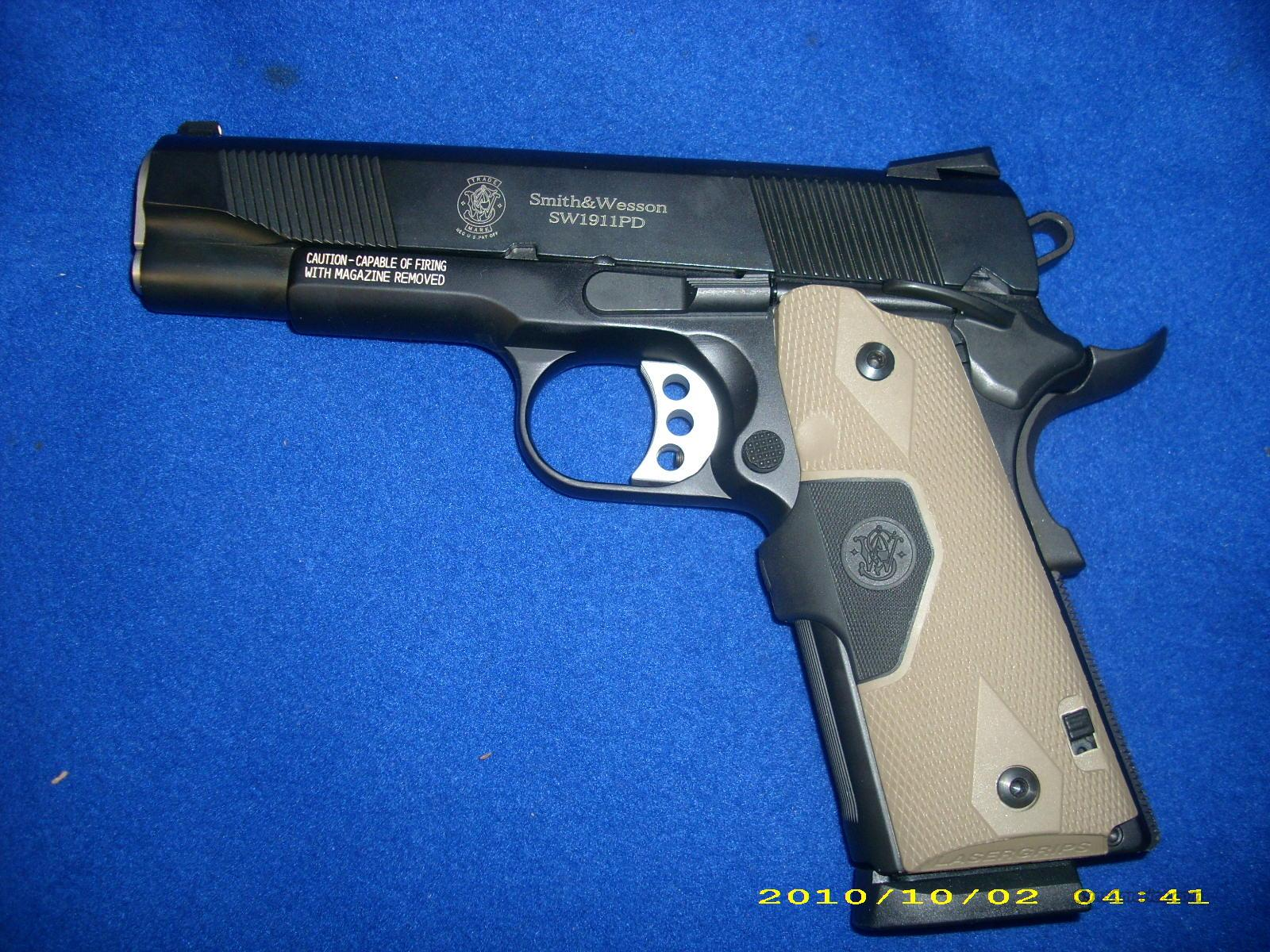 Smith and Wesson 1911PD 45 Auto  Guns > Pistols > Smith & Wesson Pistols - Autos > Polymer Frame