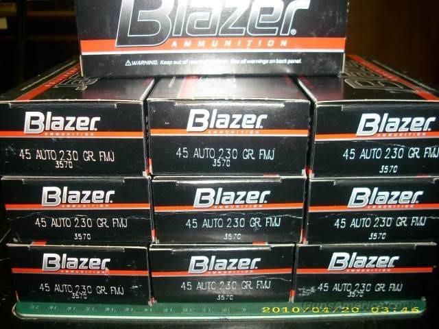 Blazer 45 Auto 230Gr. FMJ No.3570 10bxs of 50   Non-Guns > Ammunition