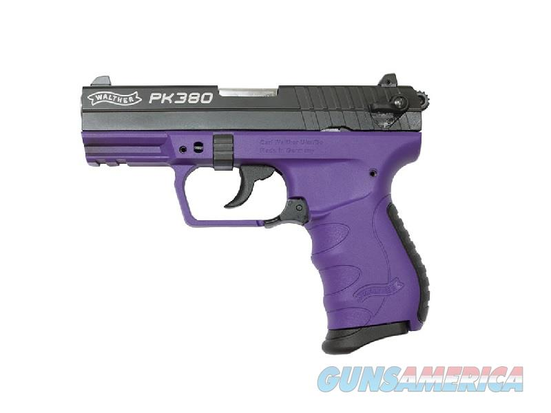 WALTHER PK380 BLACK & PURPLE .380 ACP AUTO 505.03.21  Guns > Pistols > Walther Pistols > Post WWII > PK380