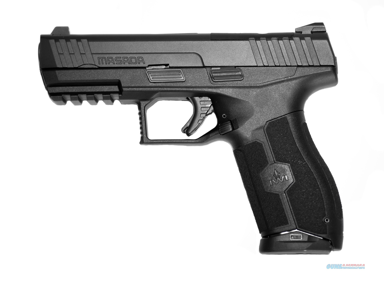 "IWI Masada 9mm Pistol 4.1"" 17 Rds Black M9ORP17  Guns > Pistols > IWI Pistols"