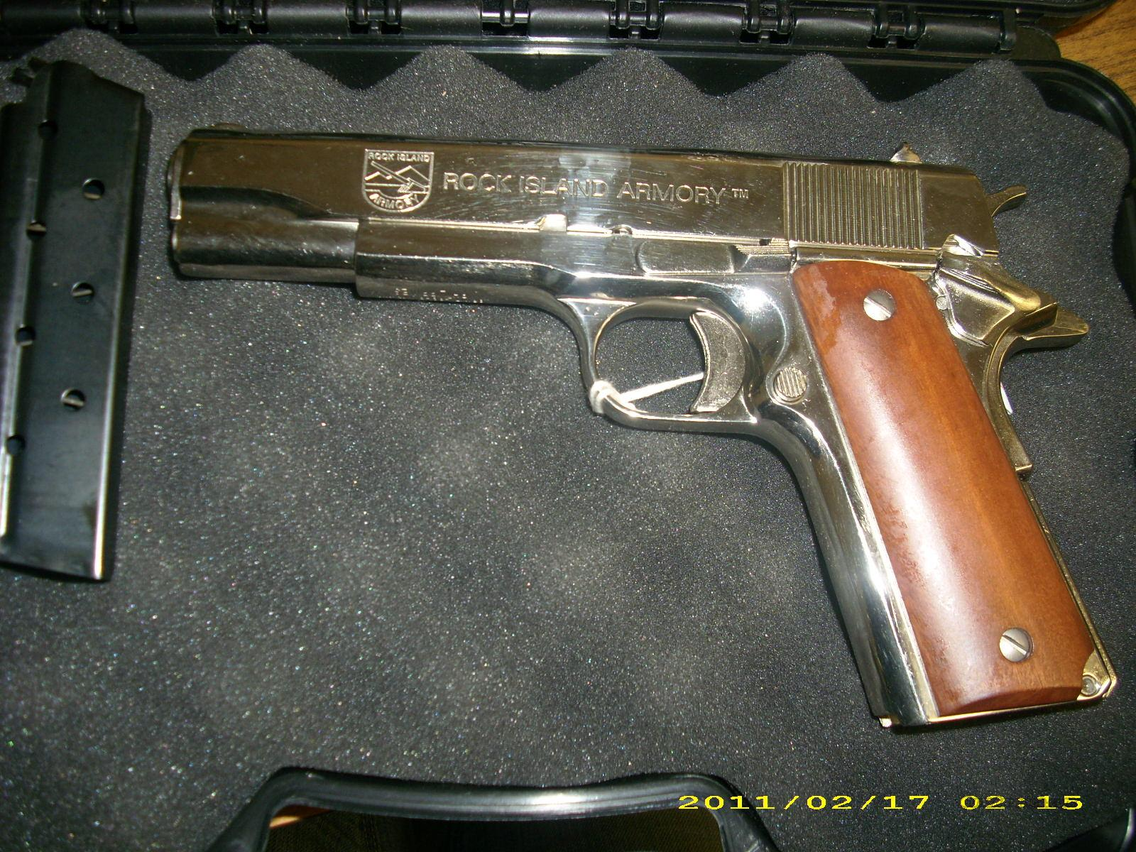Rock Island Armory 1911 38 Super Pistol Nickel Plated  Guns > Pistols > R Misc Pistols