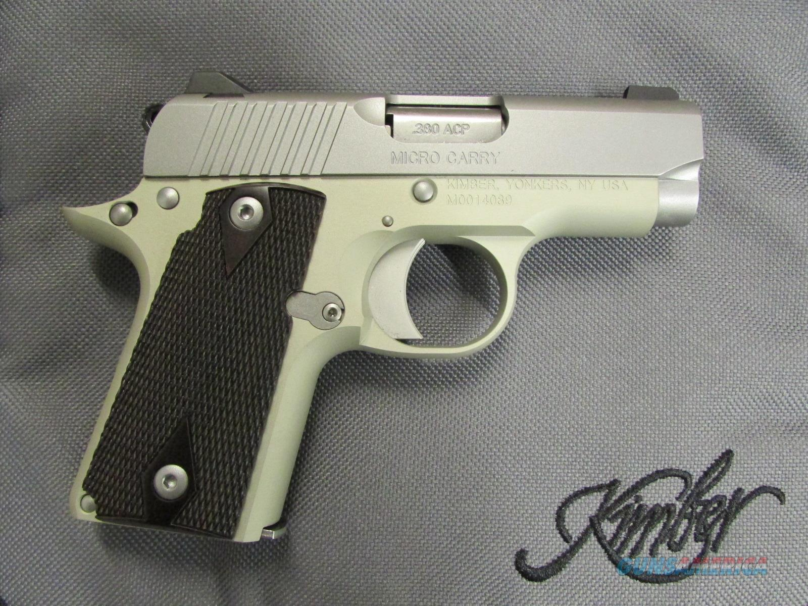 Kimber Micro Stainless Rosewood Grips .380 ACP 3300103   Guns > Pistols > Kimber of America Pistols