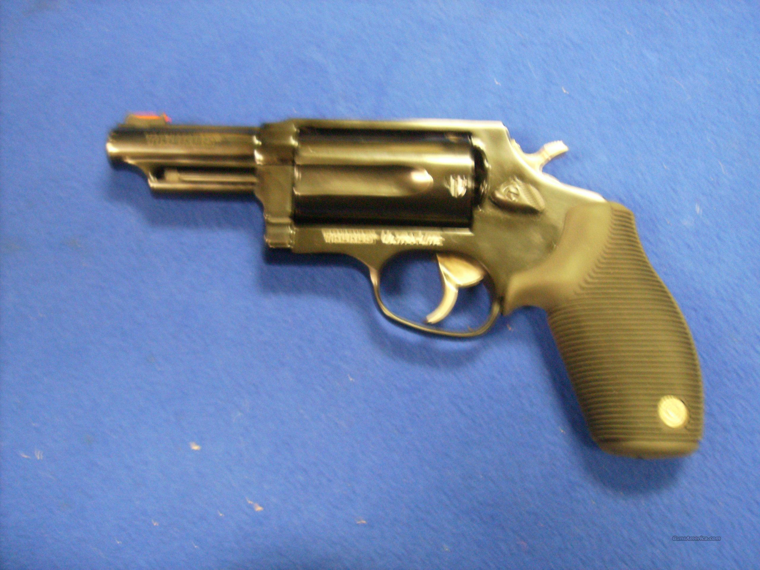 Taurus Judge 45/410 Ultralite Blued 3in barrel  Guns > Pistols > Taurus Pistols/Revolvers > Revolvers