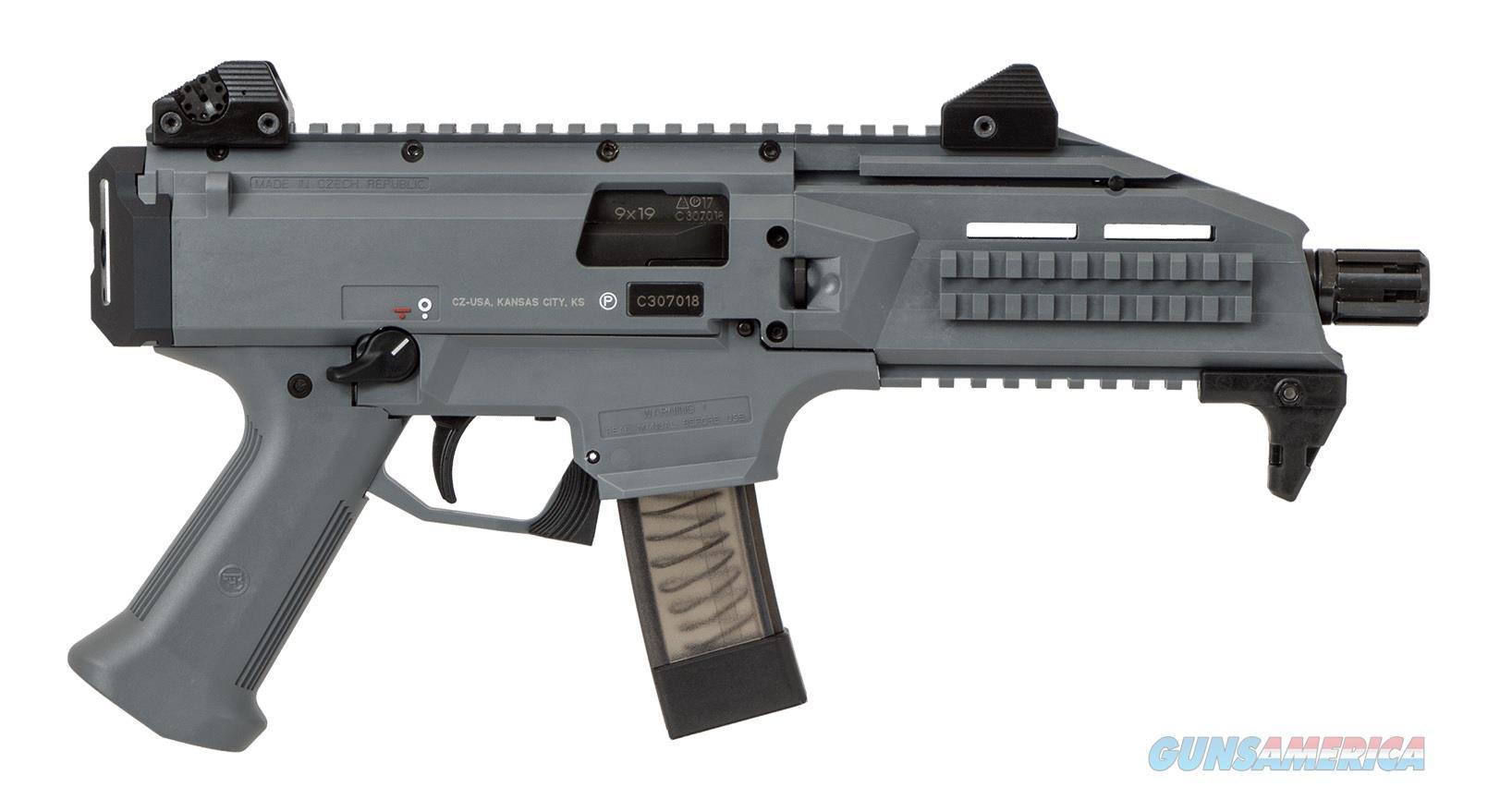 "CZ-USA Scorpion EVO 3 S1 9mm Battleship Grey 7.72"" TB 91356   Guns > Pistols > CZ Pistols"