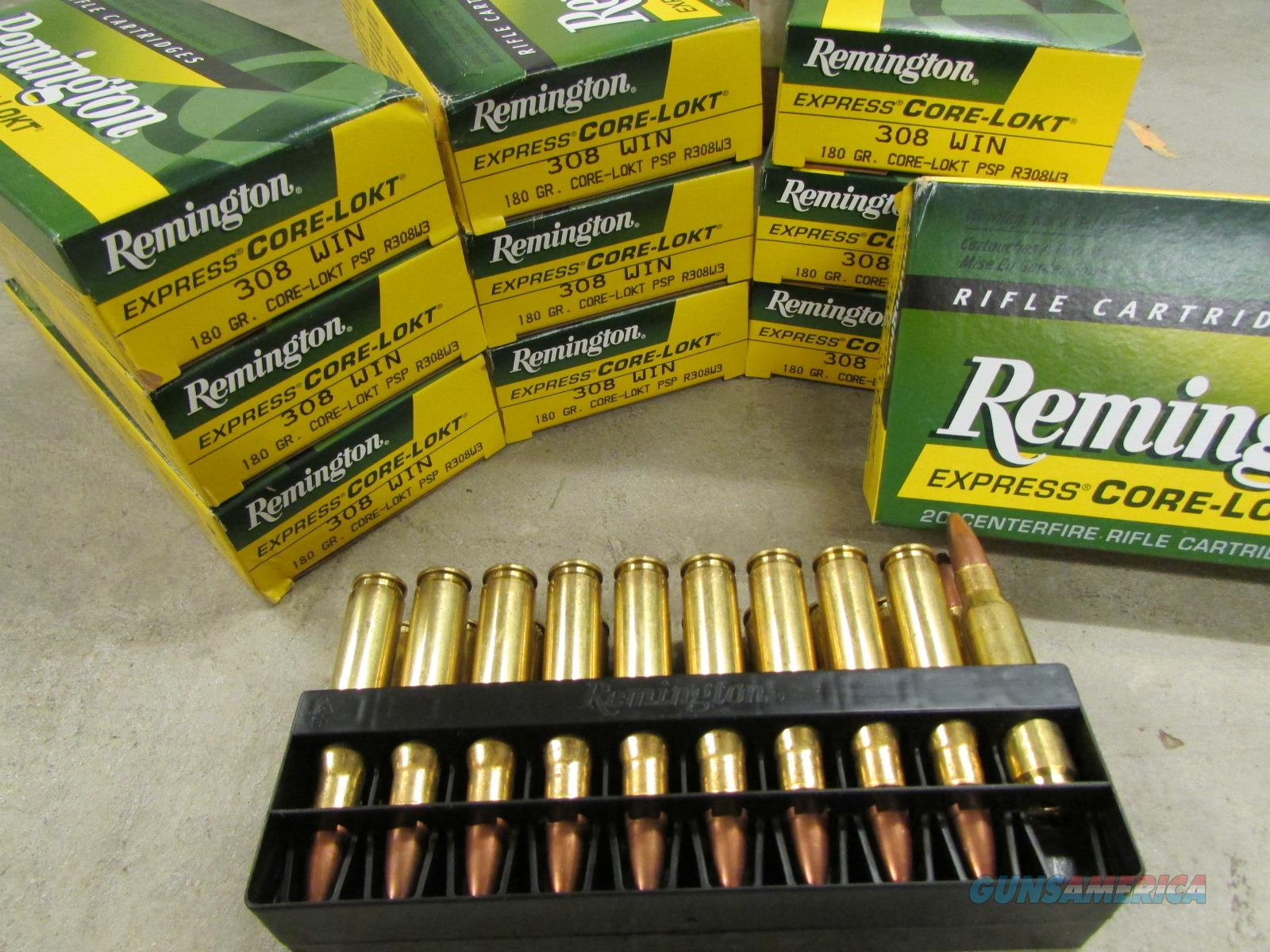 200 ROUNDS REMINGTON .308 WIN. 180 GR SP R308W3   Non-Guns > Ammunition
