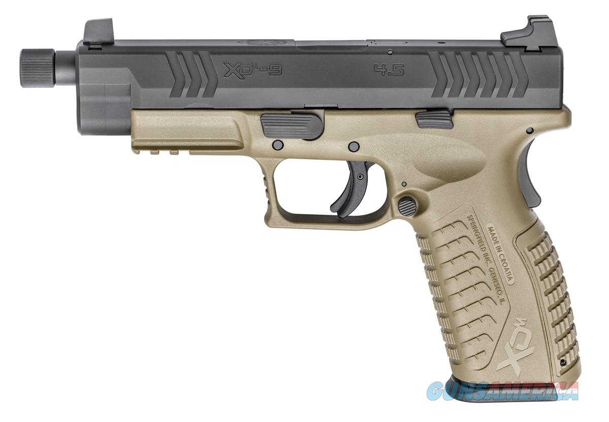 "Springfield Armory XDM Full Size Threaded 4.5"" 9mm Luger FDE SKU: XDMT9459FDEHCE  Guns > Pistols > Springfield Armory Pistols > XD-M"