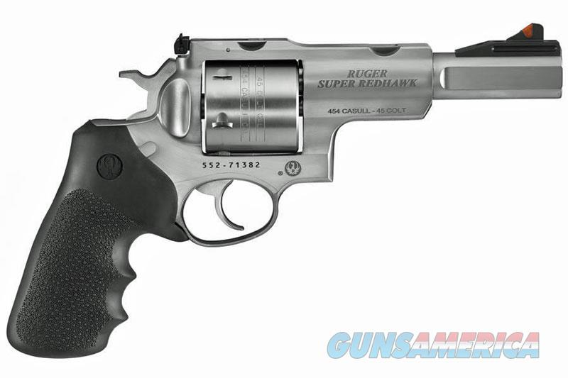 "Ruger Super Redhawk .454 Casull 5"" Stainless 6 Rds 5517  Guns > Pistols > Ruger Double Action Revolver > Redhawk Type"
