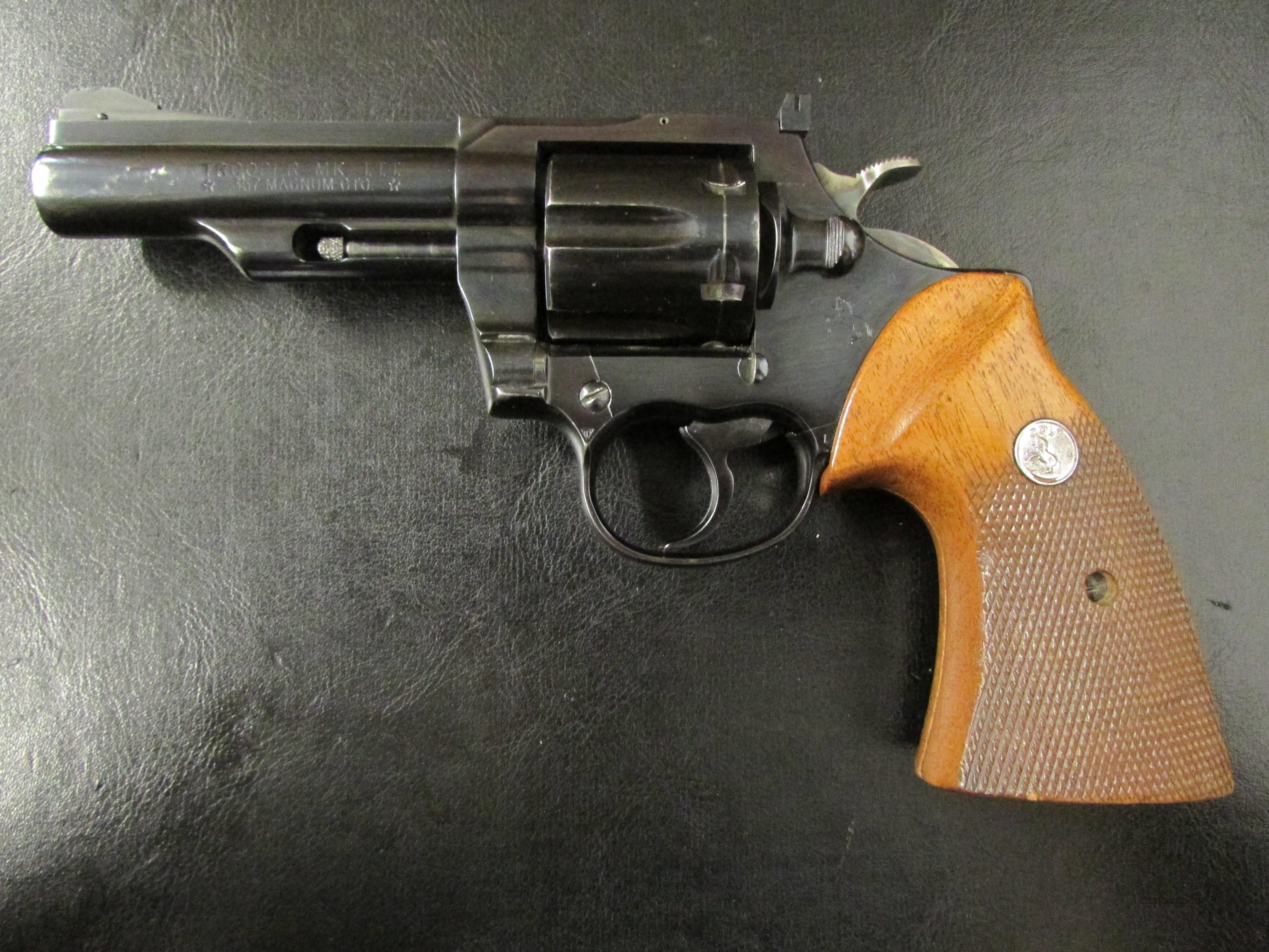 "1970 Colt Trooper Mark III .357 Magnum 4"" Blued  Guns > Pistols > Colt Double Action Revolvers- Modern"