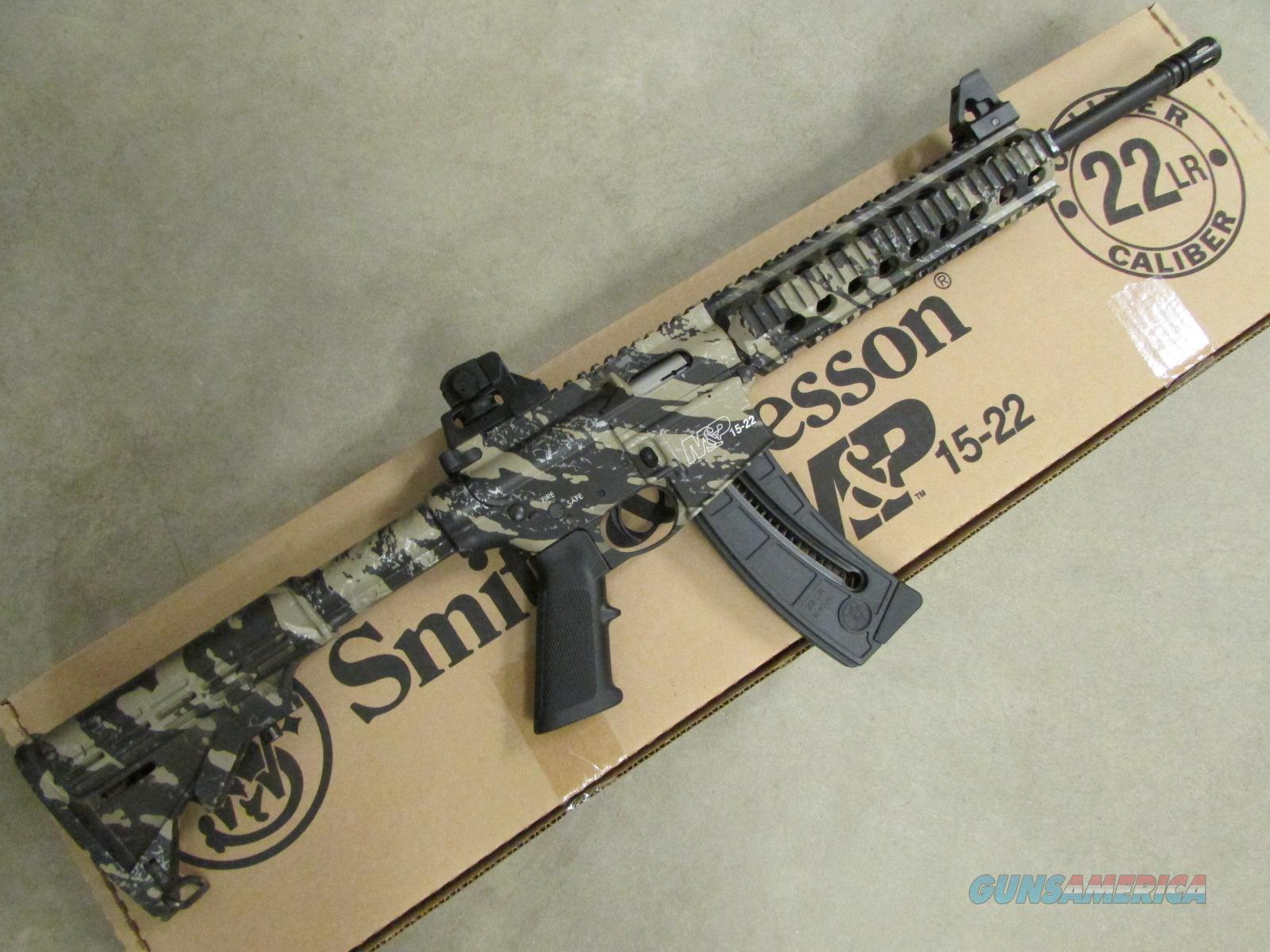 "Smith & Wesson M&P15-22 Tan and Black 16.5"" Threaded BBL .22 LR  Guns > Rifles > Smith & Wesson Rifles > M&P"
