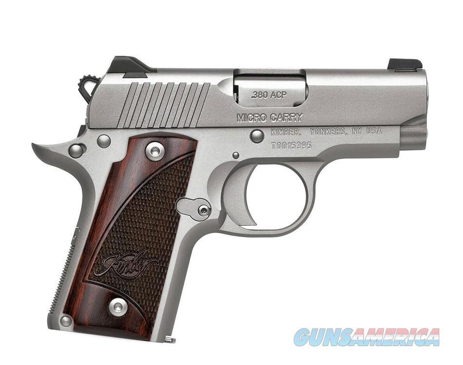 Kimber Micro Stainless Rosewood Grips .380 ACP 3300103   Guns > Pistols > Kimber of America Pistols > Micro