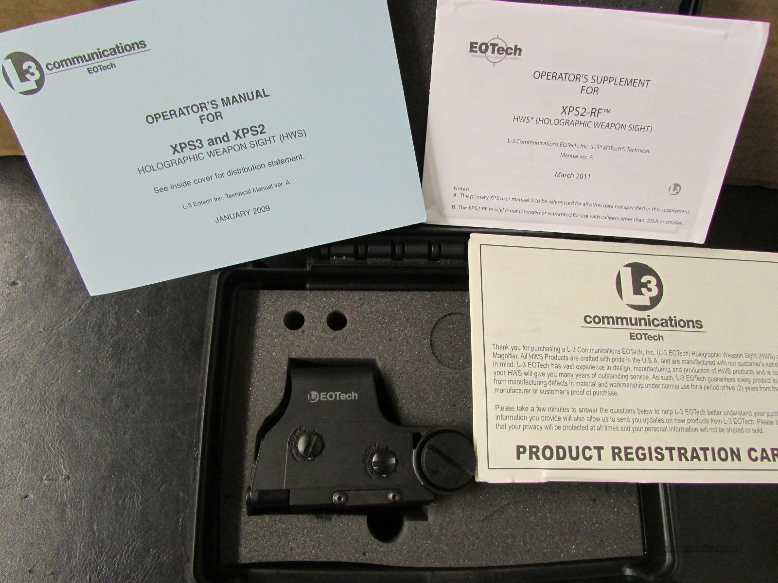 L-3 EOTech XPS2-RF Red HWS Rimfire  Non-Guns > Scopes/Mounts/Rings & Optics > Tactical Scopes > Red Dot