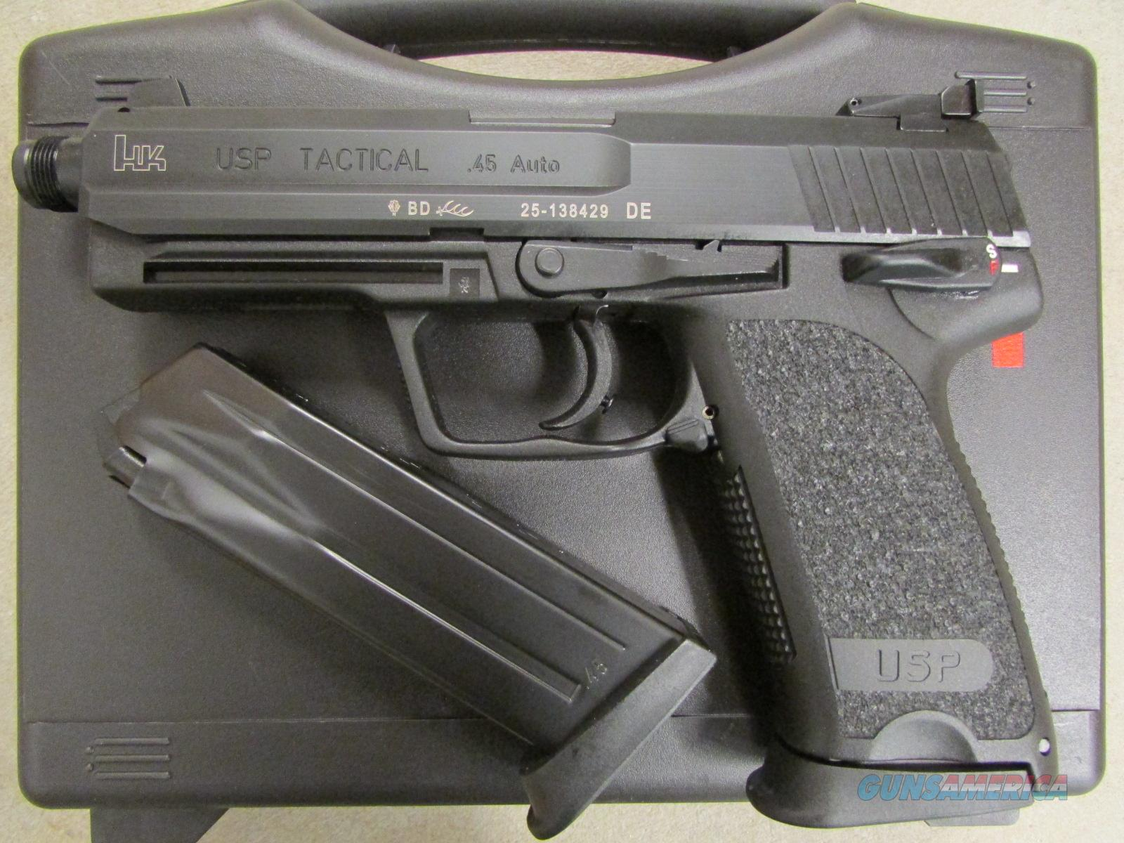 Heckler & Koch USP Tactical .45 ACP Threaded Barrel  Guns > Pistols > Heckler & Koch Pistols > Polymer Frame