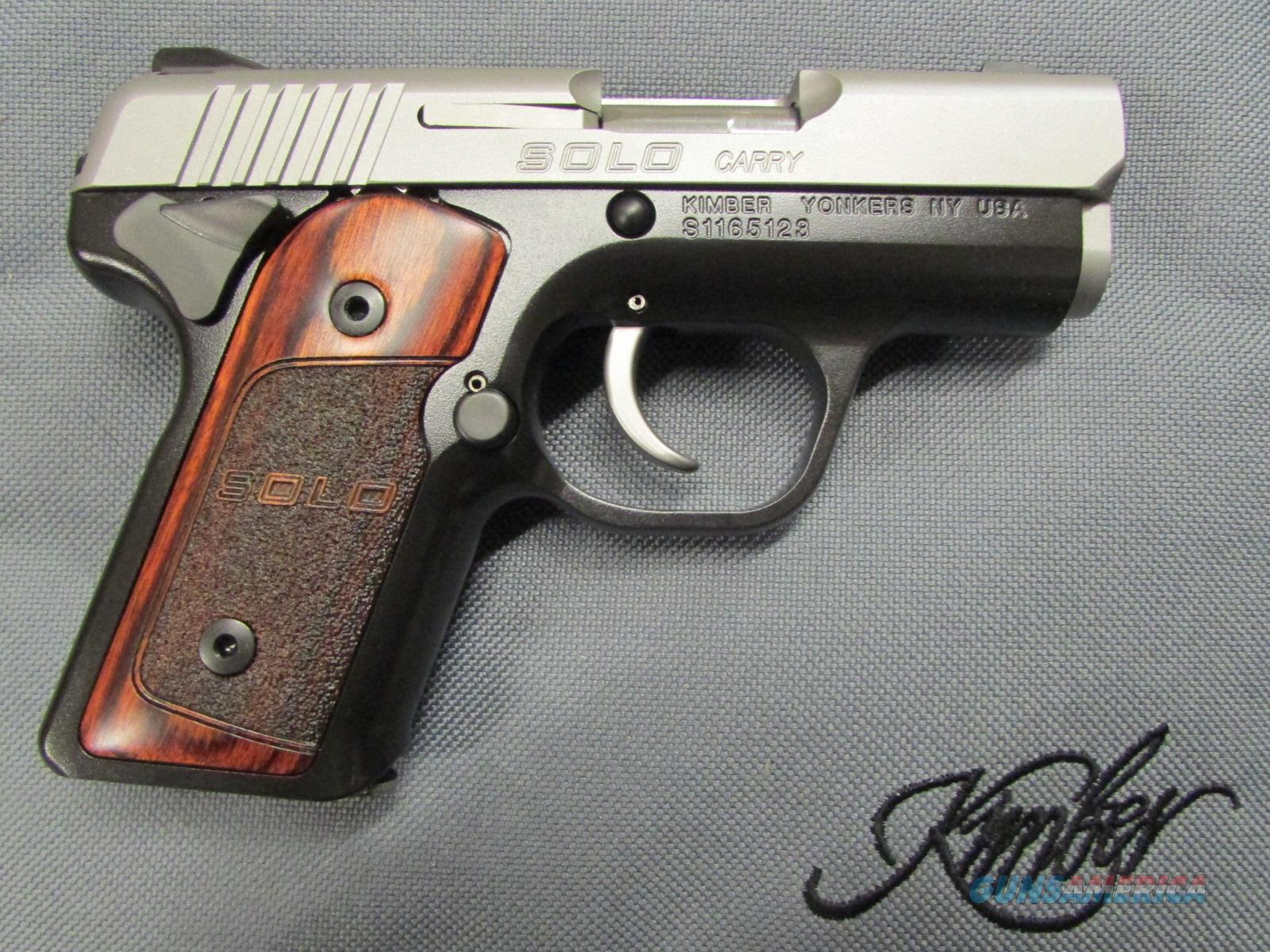 "Kimber Solo Carry 2.7"" Rosewood Grips 9mm  Guns > Pistols > Kimber of America Pistols"