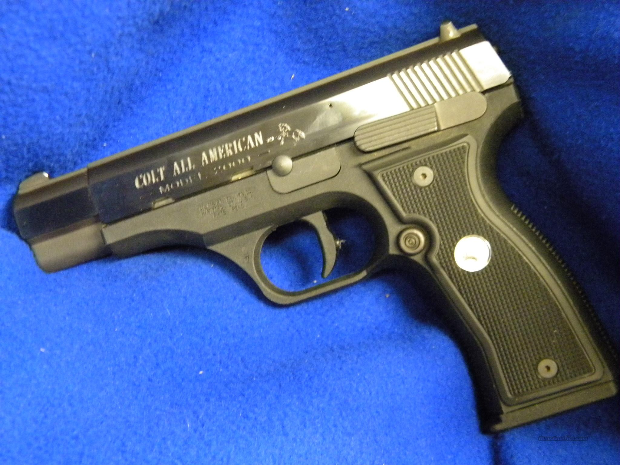 Used, Like new, Colt All American AM2000 9mm   Guns > Pistols > Colt Automatic Pistols (1911 & Var)