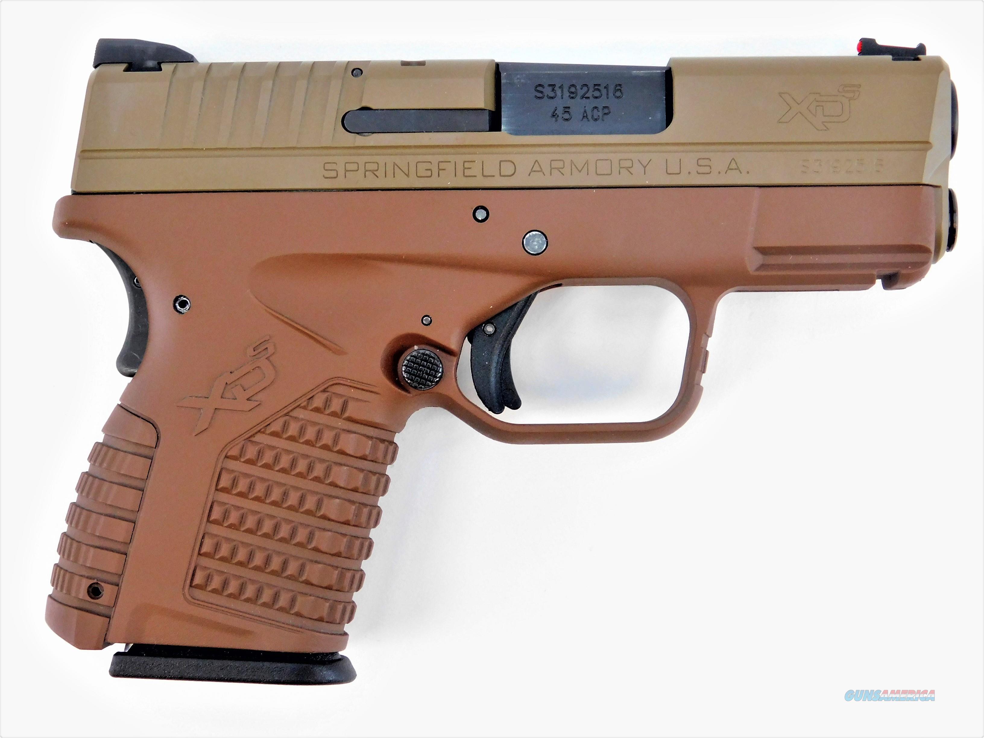 "Springfield XD-S Bi-Tone .45 ACP Cerakoted 3.3"" XDS93345SE   Guns > Pistols > Springfield Armory Pistols > XD-S"