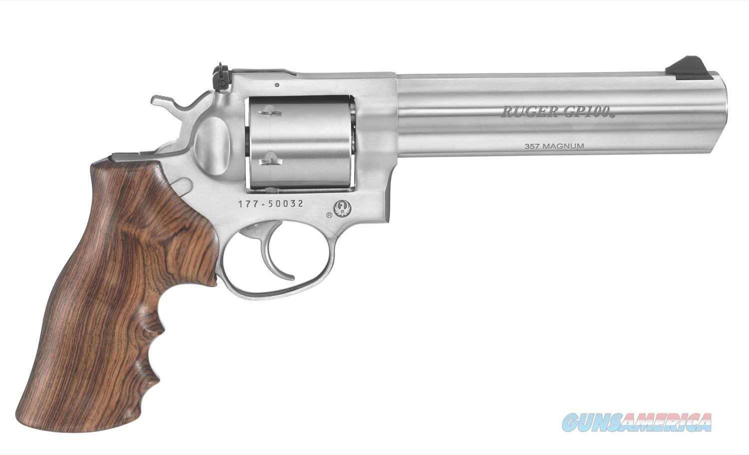 "Ruger GP100 .357 Magnum TALO 6"" Stainless 6 Rds 1759  Guns > Pistols > Ruger Double Action Revolver > GP100"