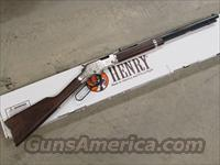 Henry Silver Eagle Engraved Lever-Action .22 S-L-LR  Guns > Rifles > Henry Rifle Company