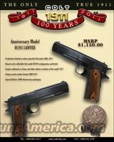 COLT 100TH ANNIVERSARY 1911 NEW !!  Guns > Pistols > Colt Automatic Pistols (1911 & Var)