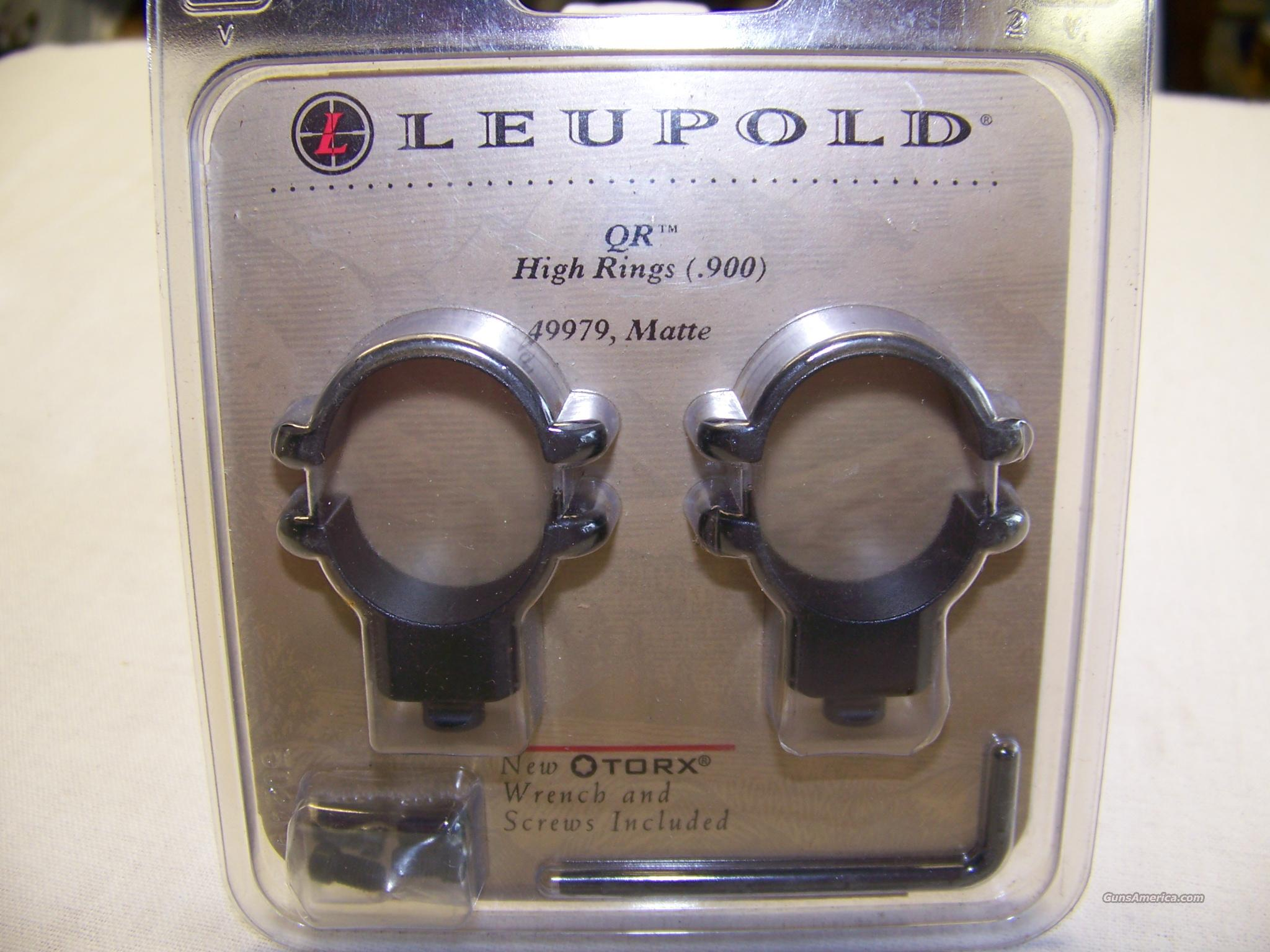 Leupold High Rings  Non-Guns > Scopes/Mounts/Rings & Optics > Mounts > Other