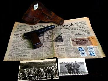 WWII Nazi German Officers Collection, Pistol & Holster + Extras  Guns > Pistols > Military Misc. Pistols Non-US