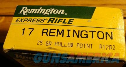 1 Box Remington 17 cal. Center Fire Rifle Shells 25 Grain Hollow Points  Non-Guns > Ammunition