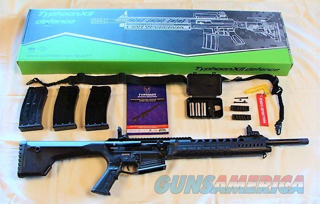 New Tactical Shotgun Semi-Auto Detachable Mag 12 Ga. Typhoon w/3 Mags & Accessories   Guns > Shotguns > XYZ Misc Shotguns