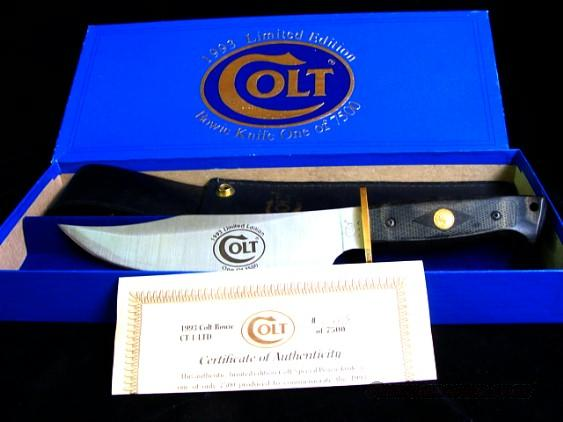 1993 Colt Commemorative Bowie Knife Limited Edition  Non-Guns > Gun Parts > Stocks > Wooden