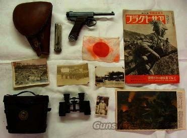 WWII Japan Officers Collection Nambu, Holster, Flag, Photos and More  Guns > Pistols > Military Misc. Pistols Non-US