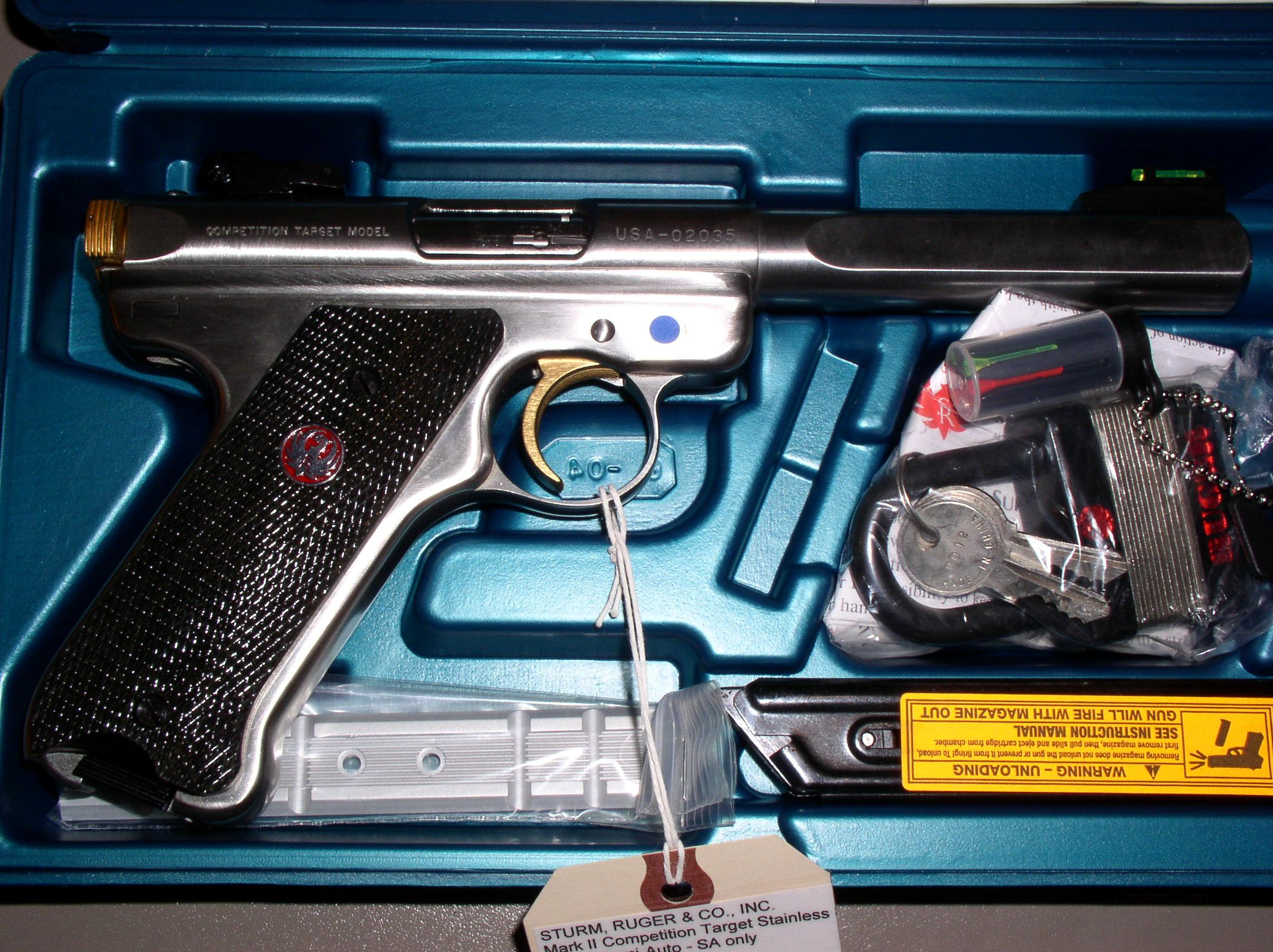 Ruger USA Shooting Team 2004 Mark II Target NEW!  Guns > Pistols > Ruger Semi-Auto Pistols > Mark I & II Family