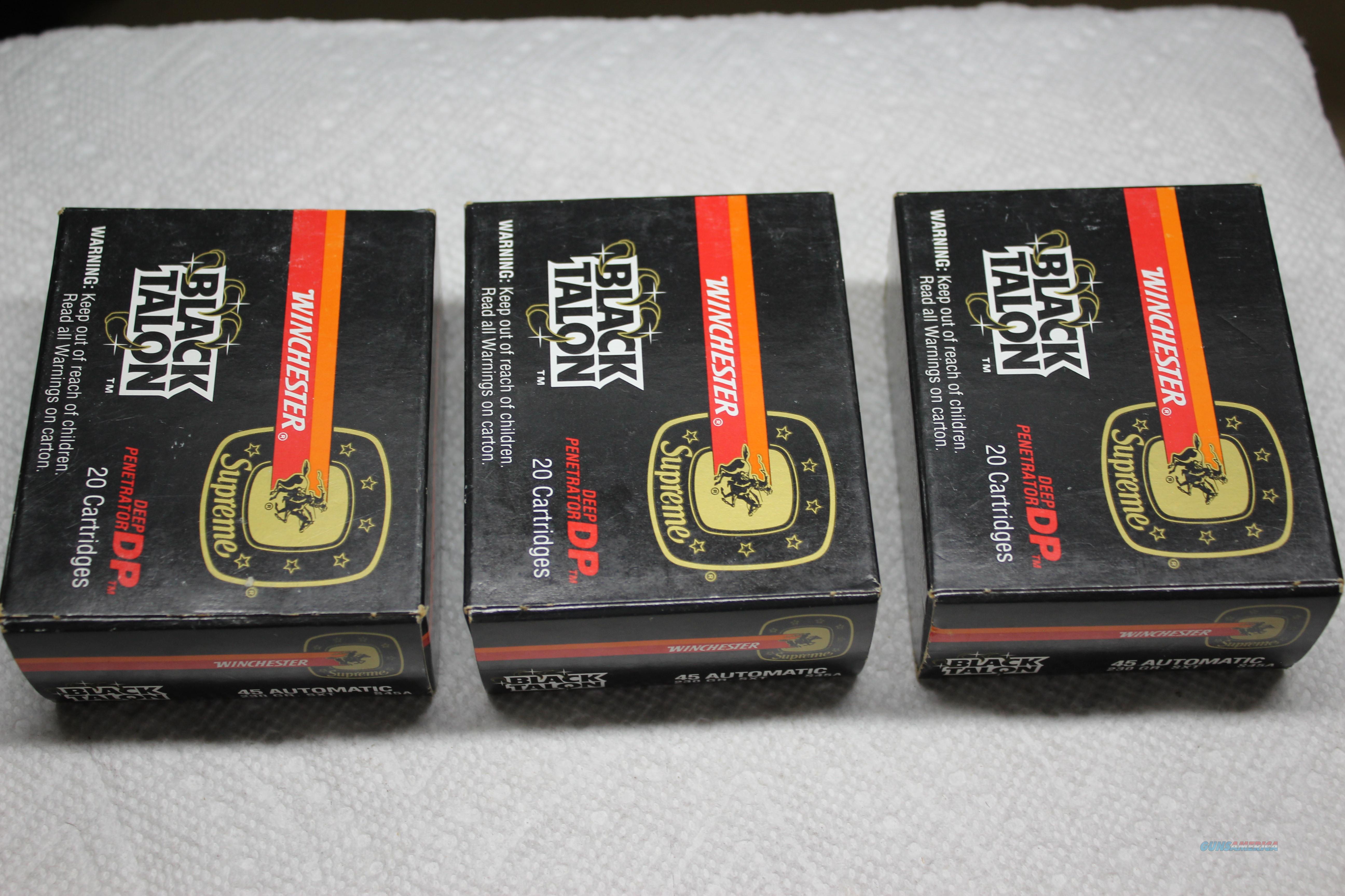 45 ACP BLACK TALON  Non-Guns > Ammunition