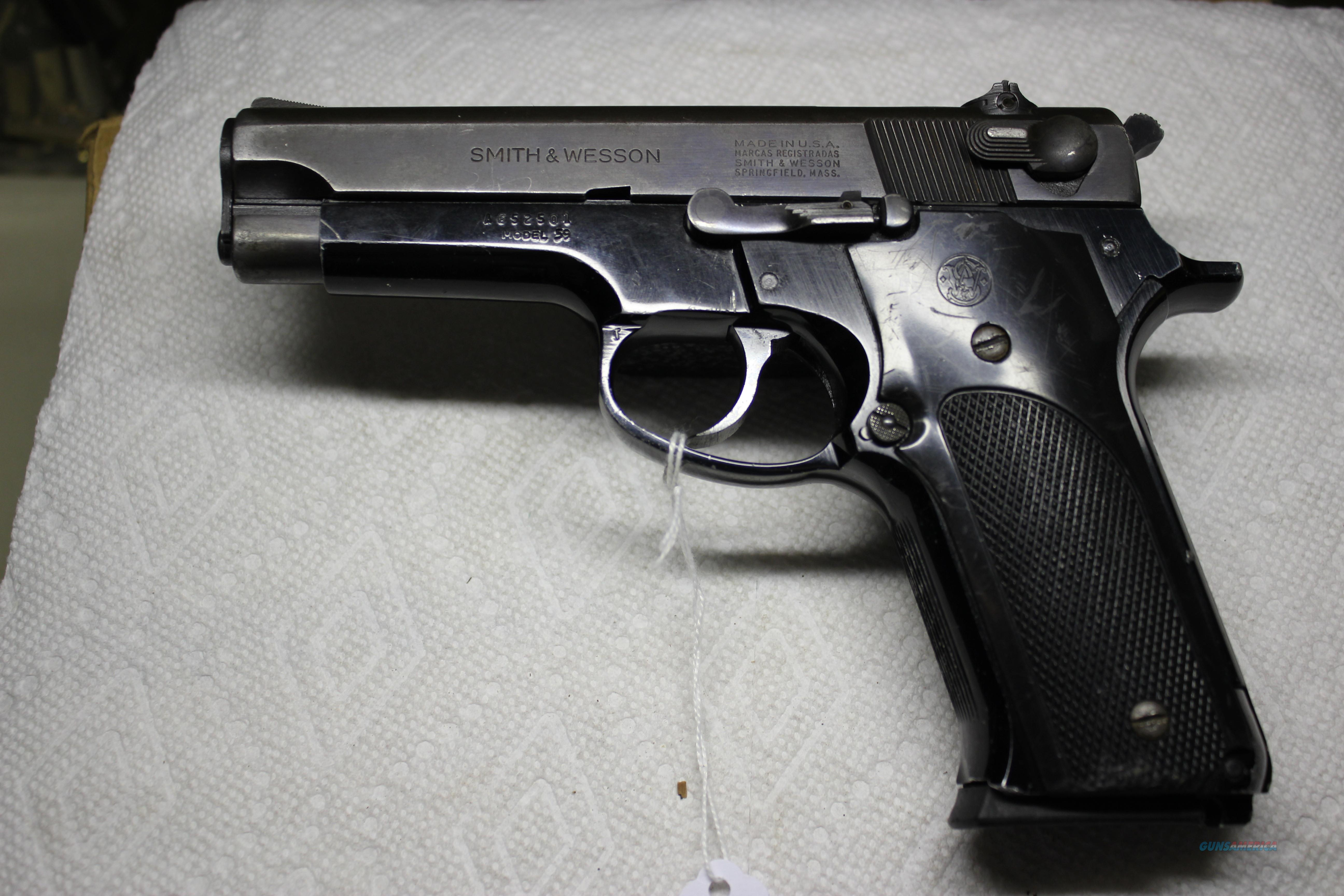 S&W MODEL 59  Guns > Pistols > Smith & Wesson Pistols - Autos > Alloy Frame