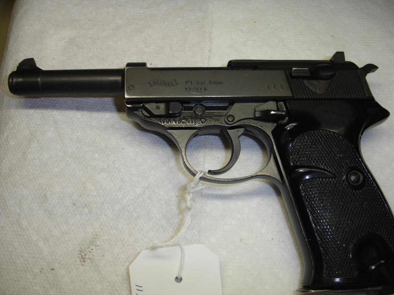 WALTHER P1  Guns > Pistols > Walther Pistols > Post WWII > P38
