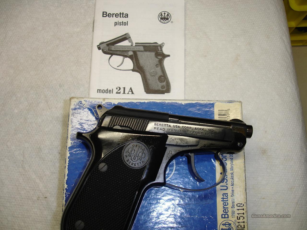BERETTA 21A BOBCAT  Guns > Pistols > Beretta Pistols > Small Caliber Tip Out