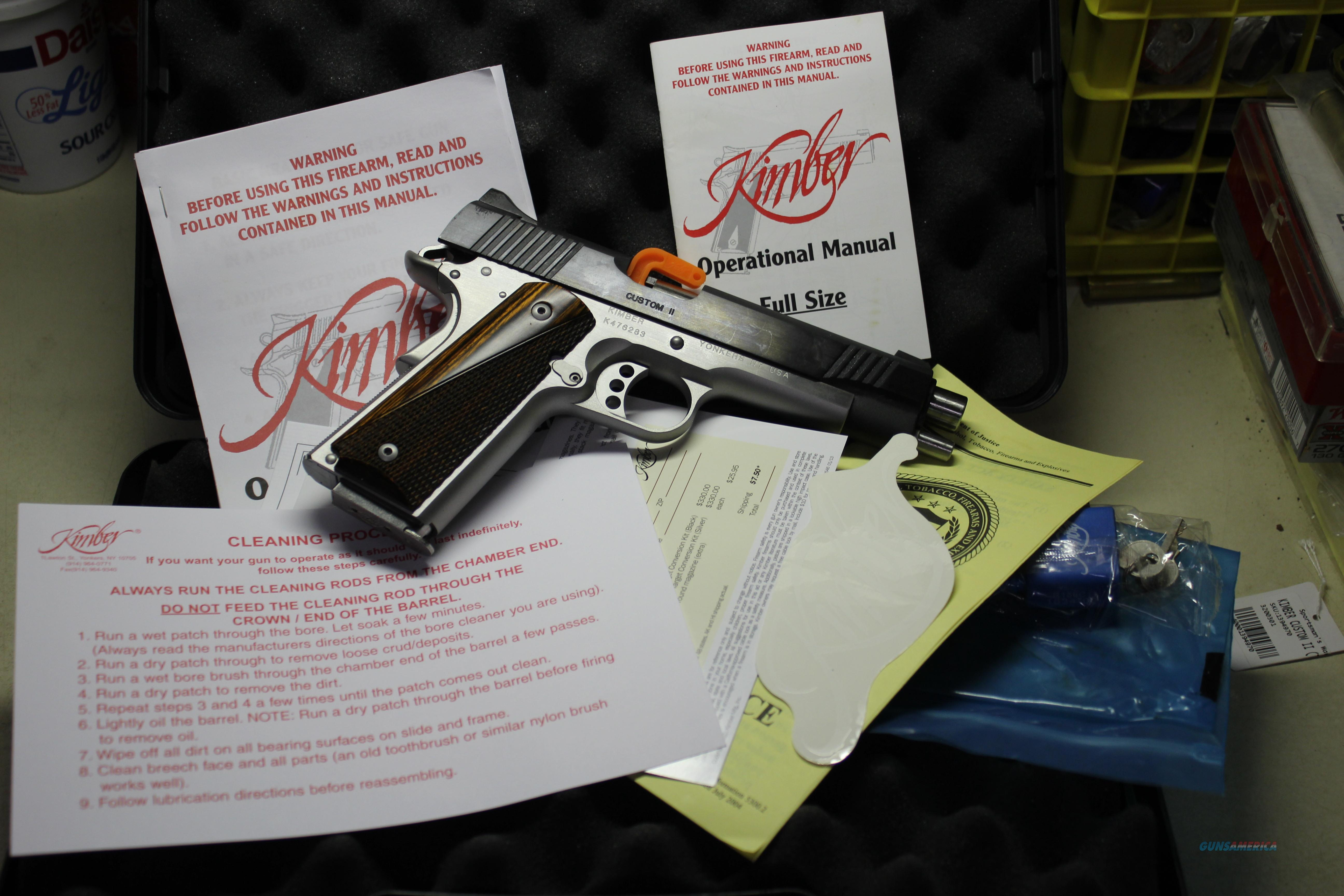 KIMBER CUSTON II   Guns > Pistols > Kimber of America Pistols > 1911