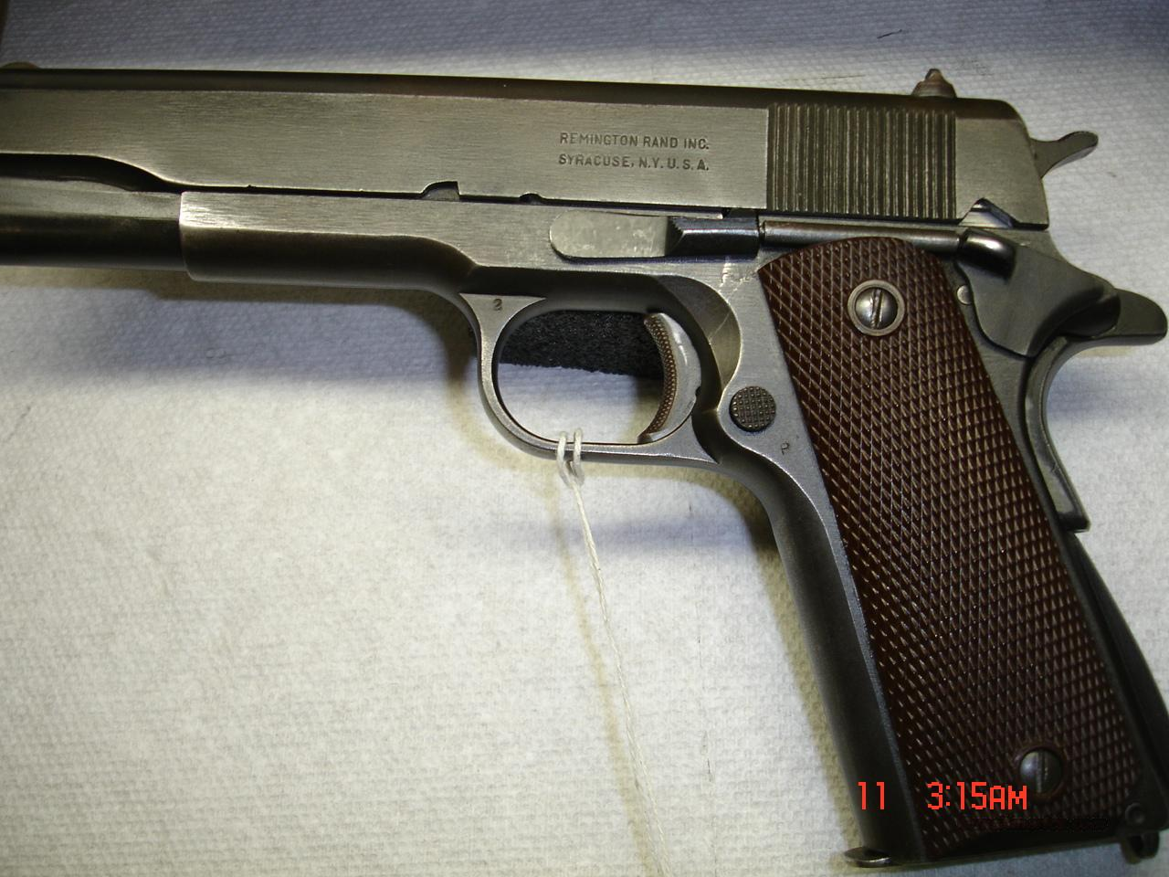 REMINGTON RAND 1911A1  Guns > Pistols > Military Misc. Pistols US > 1911 Pattern