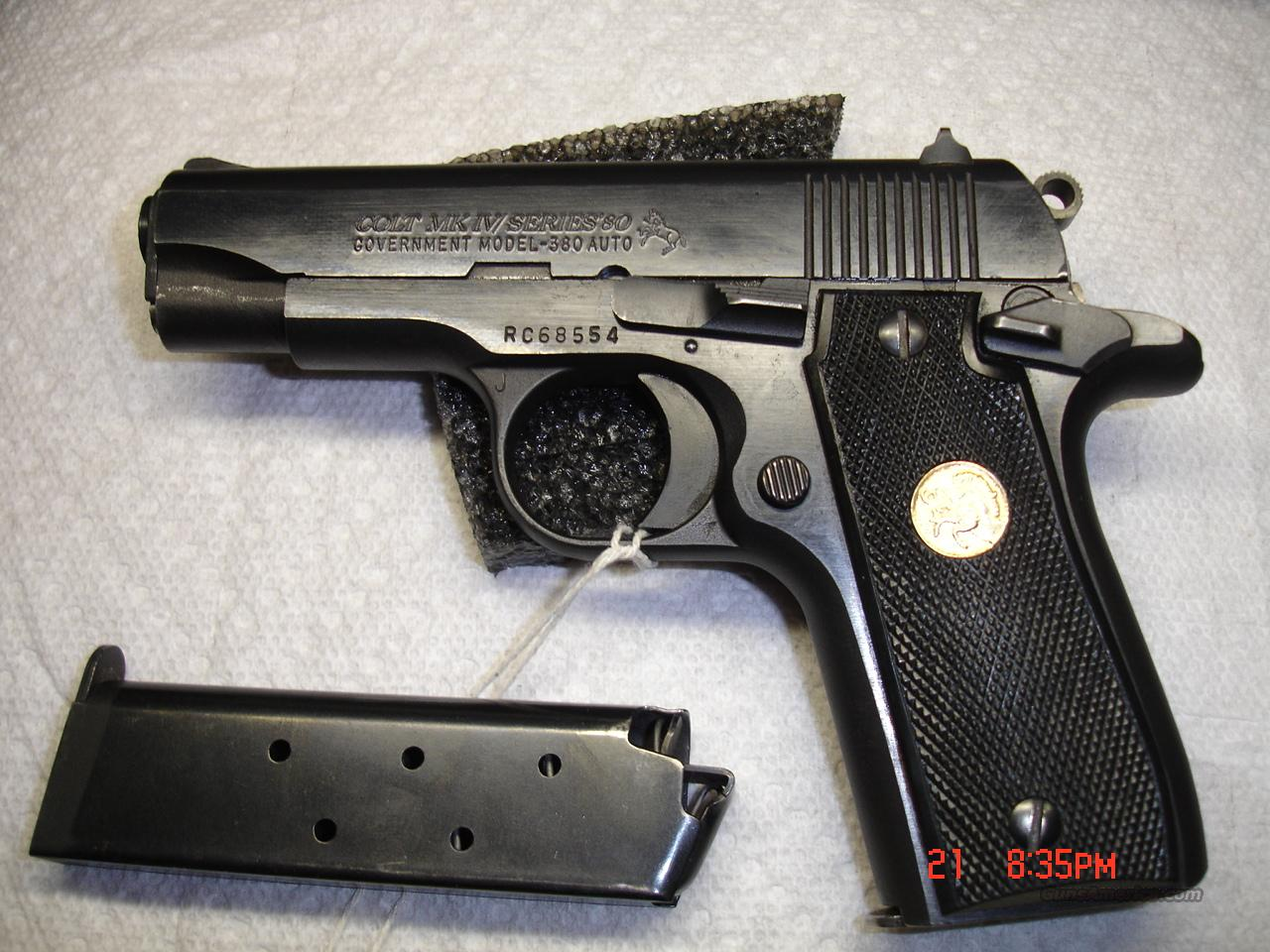 COLT GOVERNMENT MODEL 380  Guns > Pistols > Colt Automatic Pistols (.25, .32, & .380 cal)