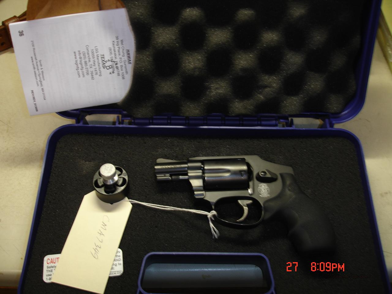 S&W MODEL 442  Guns > Pistols > Smith & Wesson Revolvers > Full Frame Revolver