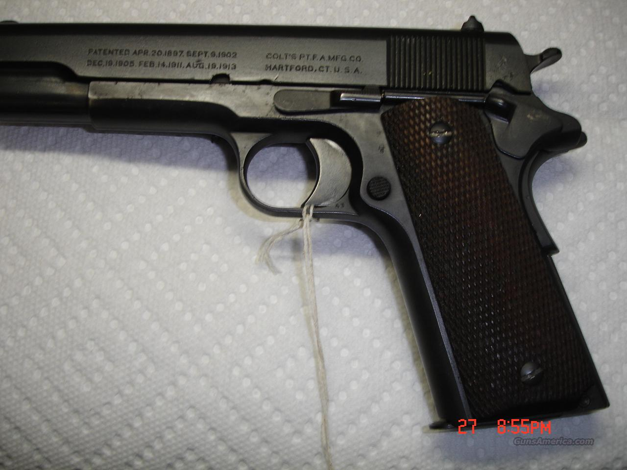 COLT WWI 1911  Guns > Pistols > Military Misc. Pistols US > 1911 Pattern