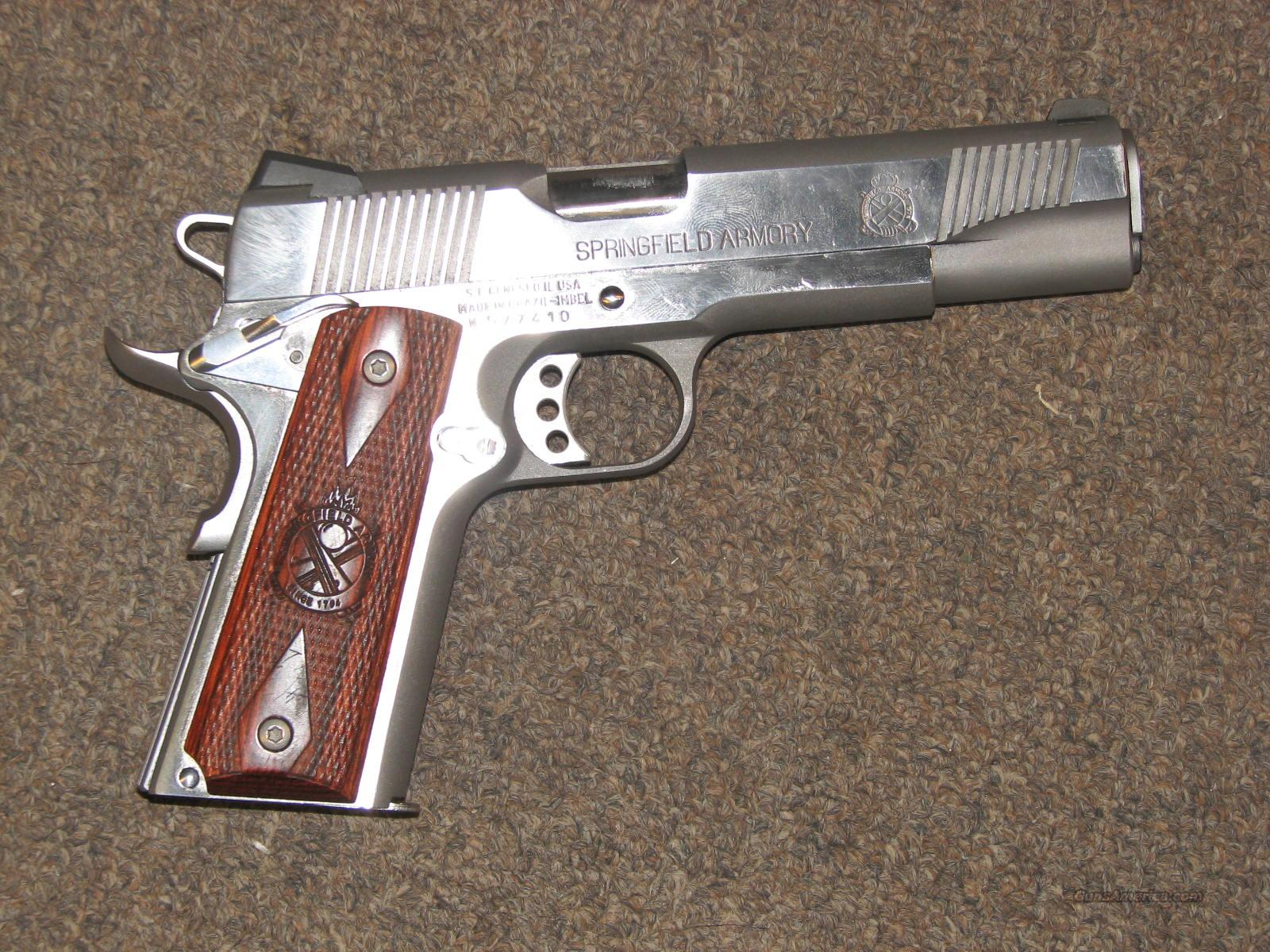 SPRINGFIELD 1911-A1 LOADED STAINLESS .45 ACP  Guns > Pistols > Springfield Armory Pistols > 1911 Type