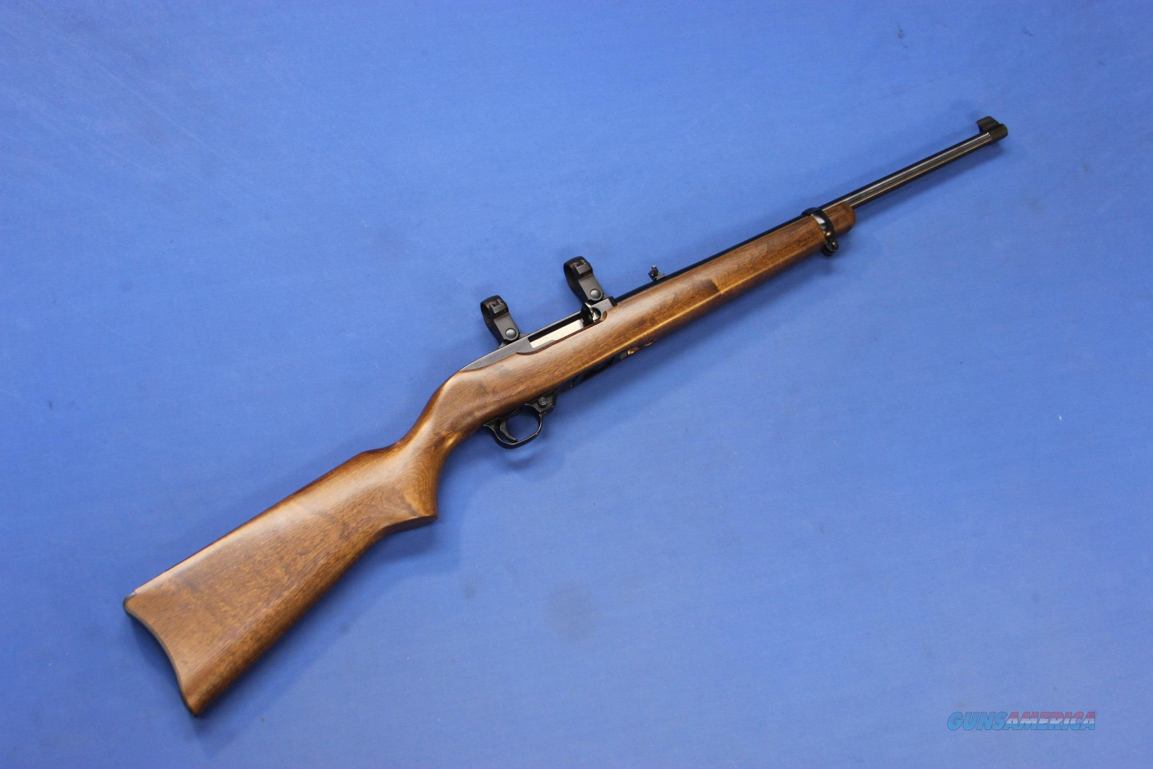 RUGER 10/22 CARBINE .22 MAGNUM w/SCOPE RINGS   Guns > Rifles > Ruger Rifles > 10-22