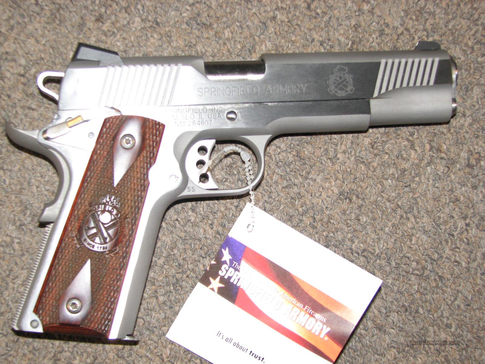 SPRINGFIELD 1911-A1 LOADED STAINLESS .45 ACP - NEW!  Guns > Pistols > Springfield Armory Pistols > 1911 Type