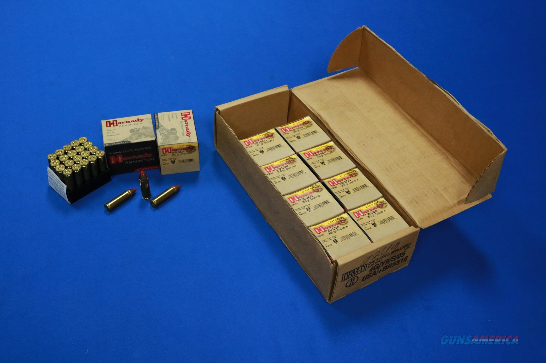 Hornady .500 S&W 300 gr Evolution 200 round case  Non-Guns > Ammunition