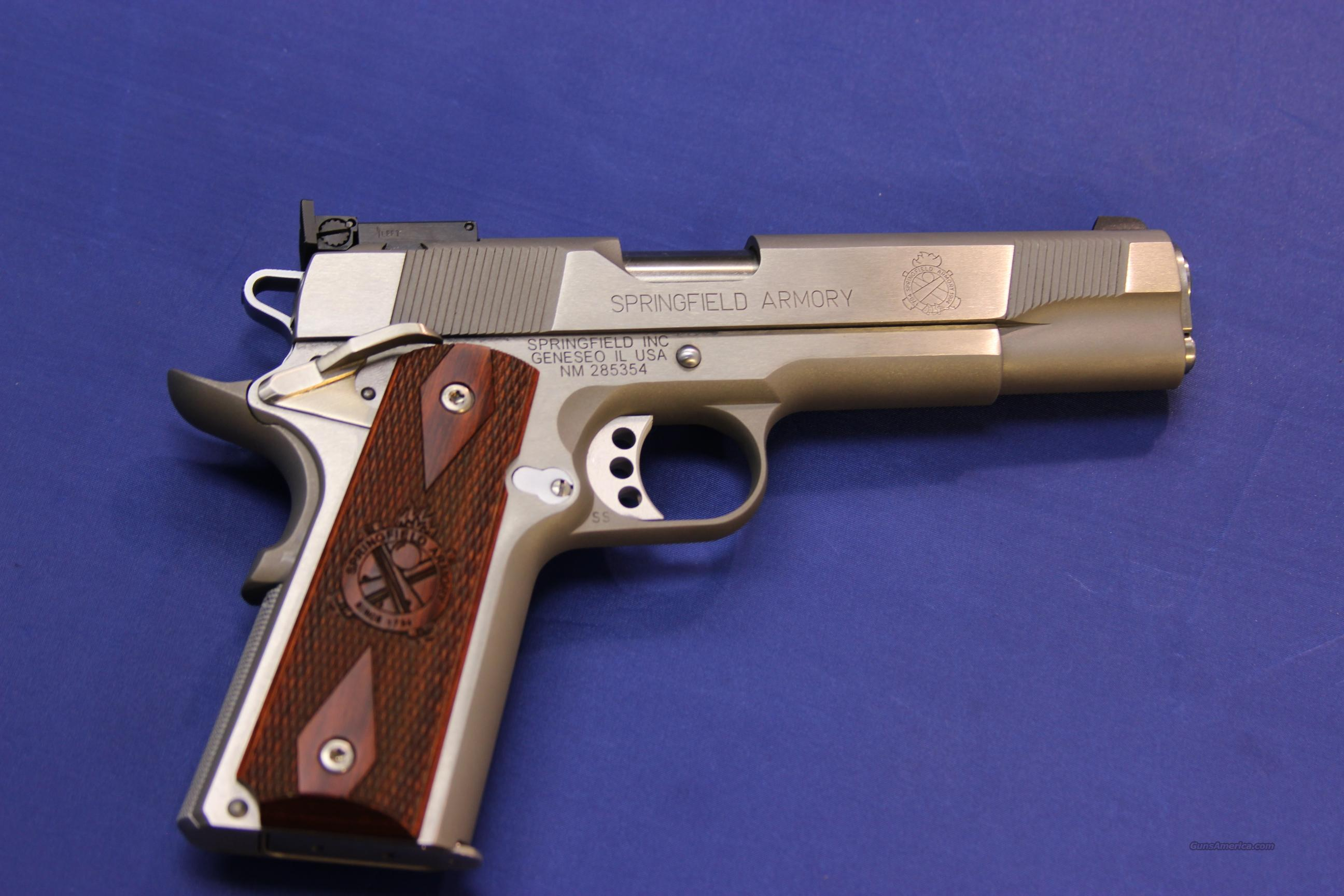 SPRINGFIELD 1911-A1 STAINLESS TARGET .45 ACP - NEW!!  Guns > Pistols > Springfield Armory Pistols > 1911 Type