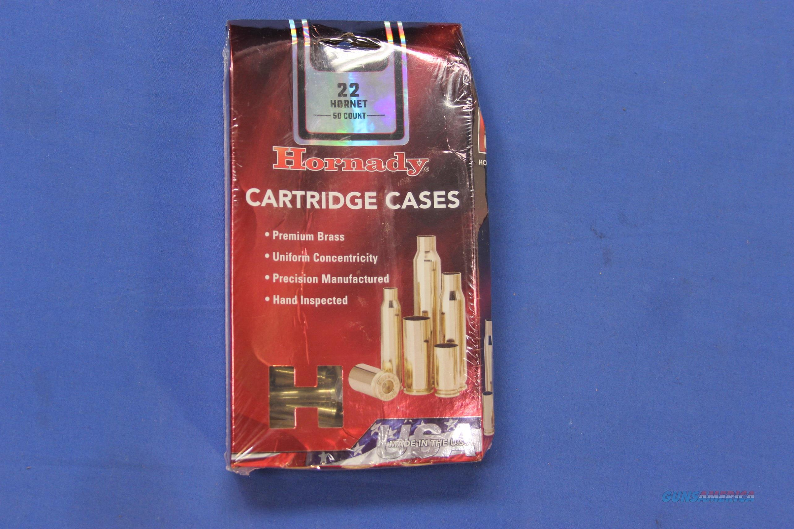 HORNADY BRASS CARTRIDGE CASES .22 HORNET 50-CT NEW  Non-Guns > Reloading > Components > Brass