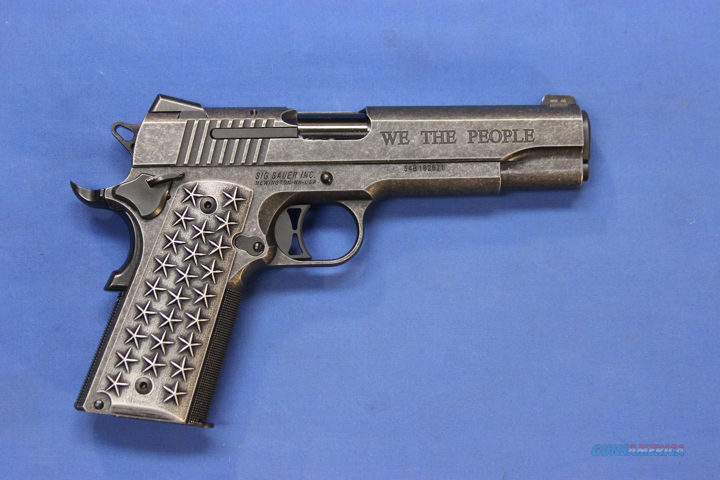 SIG SAUER 1911 WE THE PEOPLE .45 ACP - NEW IN BOX!  Guns > Pistols > Sig - Sauer/Sigarms Pistols > 1911