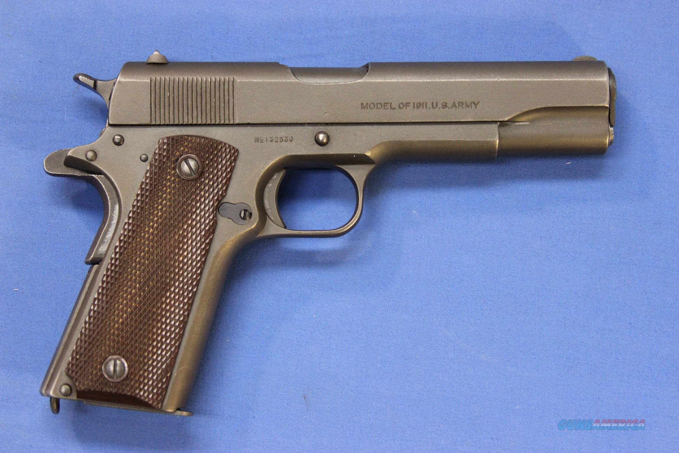 COLT US MILITARY .45 ACP MODEL OF 1911 US ARMY  Guns > Pistols > Colt Automatic Pistols (1911 & Var)