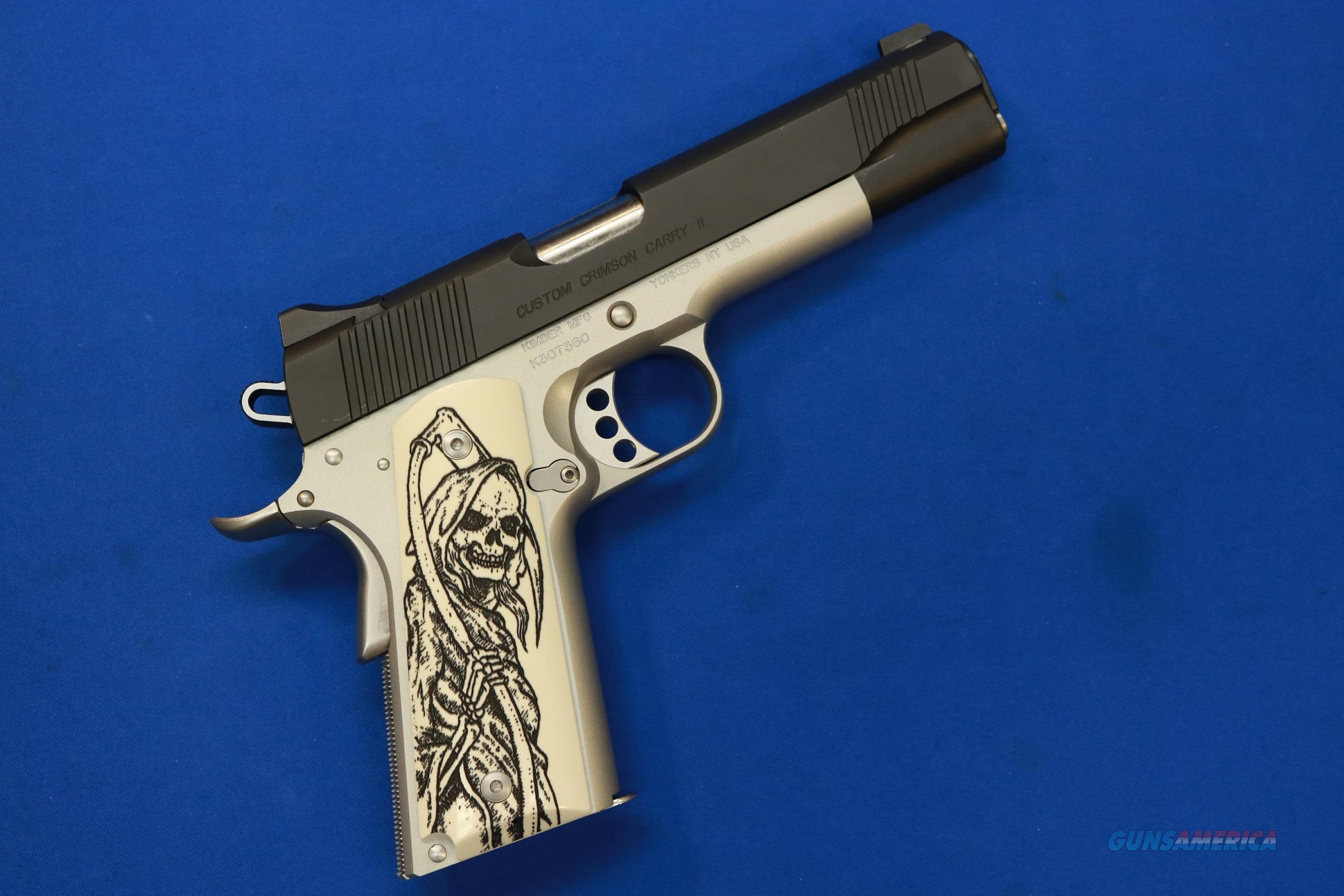 KIMBER CUSTOM CRIMSON CARRY II GRIM REAPER .45 ACP  Guns > Pistols > Kimber of America Pistols > 1911
