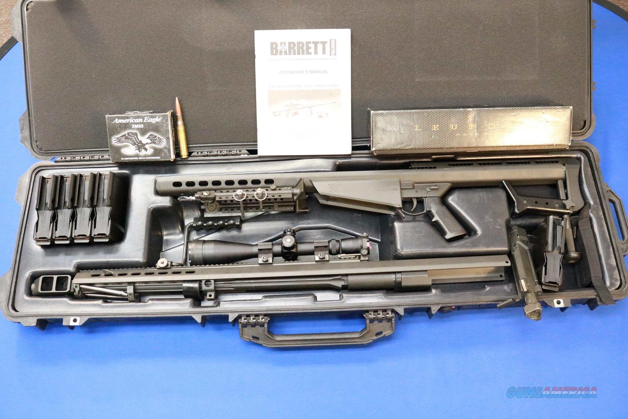 "BARRETT M107 .50 BMG 28"" FLUTED MK4 LEUPOLD 5 MAGS  Guns > Rifles > Barrett Rifles"